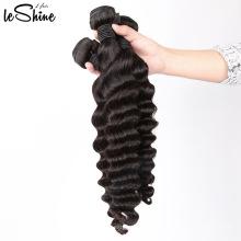 Высший Сорт Дешевые Цены Волос Большой Запас Быстрая Доставка Человеческих Волос Перуанский Глубокая Волна Пучки