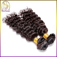 extension de cheveux de l'eau profonde d'afro, prolongation de cheveux de la catégorie 7a de cheveux péruviens vierges