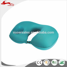 NRE17-084 2018 Factory Price U shape inflatable travel neck pillow soft and breathable