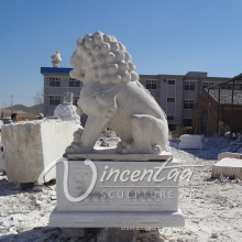 outdoor garden decoration stone Carving marble foo dogs for sale