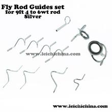 9 pies 4wt a 6wt Rod Plata Fly Rod guía conjunto