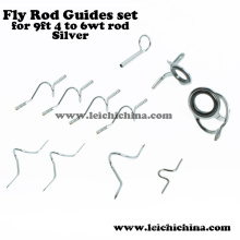 9ft 4wt to 6wt Rod Silver Fly Rod Guide Set