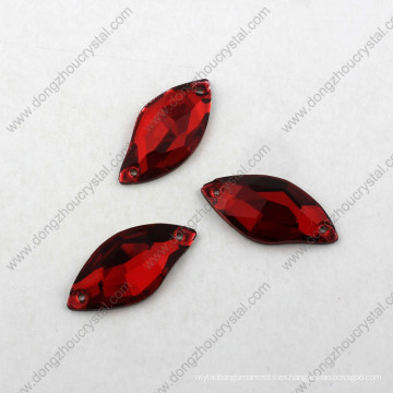 Siam Color S Shape Glass Stone Rhinestone