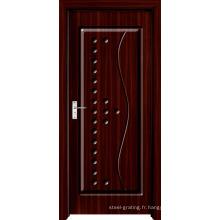 Porte en bois en PVC pour cuisine ou salle de bain (pd-003)