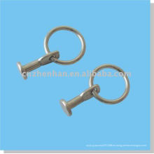 Accesorio de la cortina-Acero inoxidable Lazo fijo-Cortina Rod clips del anillo para la barra de la cortina