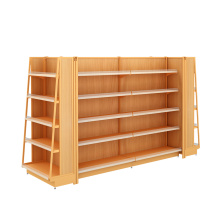 Metal Wooden Supermarket Display Shelf