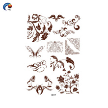 Uso de correspondência de estêncil de Henna com pasta de henna em Yincai