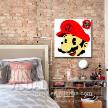 Mario Stencil Pop Art for Interior Decoration