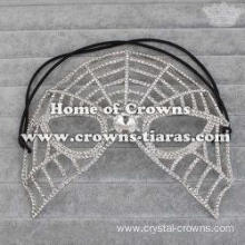 Halloween Crystal Spikewebs Masquerade Mask