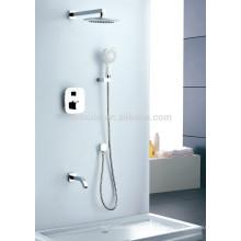 KWM-07 ducha y manija montado en la pared termostatos baño ducha de lluvia conjunto
