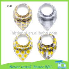 Custom Cotton Baby Bandana Bibs Organic
