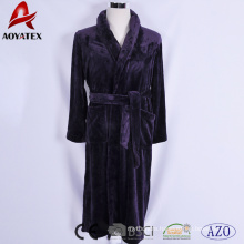 New arrival hot sale breathable night wearing unisex flannel fleece bathrobe for home/hotel