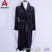 Nova chegada venda quente respirável noite vestindo unisex flannel velo roupão para casa / hotel