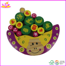 Wooden Hippo Balancing Block Game (W11F009)