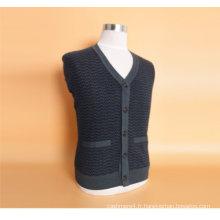 Yak Wool / Cachemire V Neck Cardigan Pull à manches longues / Vêtement / Tricots