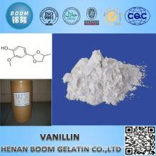 ISO standard pure vanillin food flavour min 99.5%