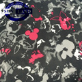 100% polyester knit bright printing double side fabric for children's wear