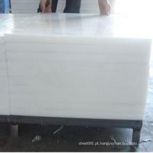 Folha branca do polietileno do PE da resistência de corrosão