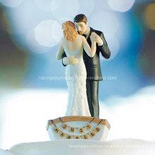 Pareja de boda en bote de remos Bride & Groom Cake Topper Figurine