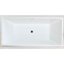 Bañera empotrable acrílica de acrílico blanco