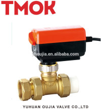 High quality PPR internal thread brass Electric globe valve