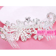 factory directy making hot sale crystal mini rhinestone tiara crown