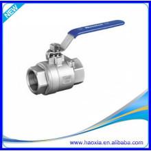 La mejor válvula de bola del acero inoxidable 2PCS con el hilo de rosca