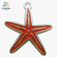 Pendentif en métal fait sur commande de charme d'émail d'étoile de vente chaude pour le cadeau de thanksgiving