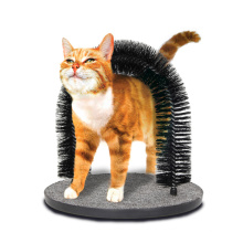 Everyday Interactive Cat Grooming Durable Bristle Cat Rubbing Arch Self Groomer Cat Arch