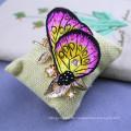 Handbestickte Brosche Schmetterling Zubehör Nadel Geschenk