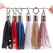 Portable Cable USB Cable Tassels Keychain Gift Compatible with Cell Phone