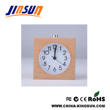 Pastoral Wooden Alarm Clock With Mute Quartz