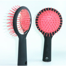 Rainbow Plastic Styling Hair Comb Brush with Mirror