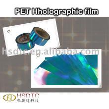Filme holografico de PET