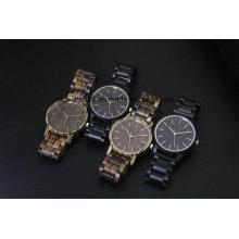 Logo personnalisé de montre-bracelet en bois sur mesure de luxe 2017