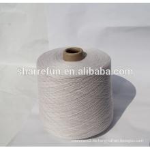 fábrica al por mayor 26NM / 2 lana 90% lana 10% hilado de cachemira para hacer punto