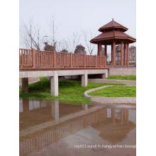 Clôture extérieure imperméable de vente chaude nouvelle de WPC (pour le pont, jardin avec 20 ans de garantie,)