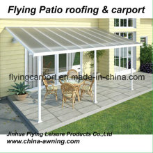 Attached Wall Aluminum Carport& Garage with Polycarbonate PC Sheet Roof