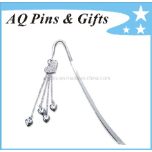 Metal Bookmark with Diamond in Nickel Plating