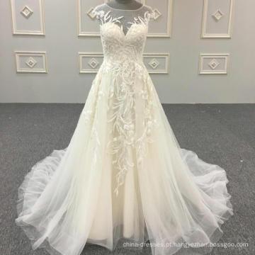 Mais recentes vestidos de noiva Custom Made vestido de noiva 2018