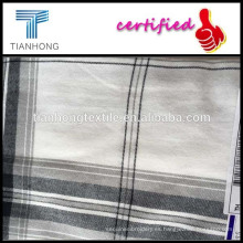 hilo de algodón 100% teñido franela /twill de hilados teñidos camisa de franela de algodón/franela