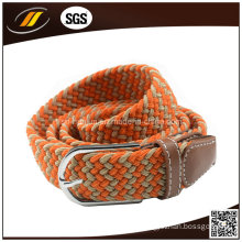 Wholesale Colored Polyester Elastic Braid Webbing Belt for Lady′s