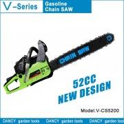 Alto rendimiento con carburador Japón motosierra gasolina V-CS5200