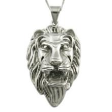 Moda jóias de aço inoxidável Leão Pingente Presente de Natal