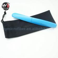 Bolso con pluma de microfibra con cordón, 100% poliéster