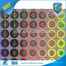 Neuer kundenspezifischer Hologramm-reflektierender sterben Schnitt-Aluminiumfolien-Aufkleber