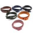 Bracelete de couro novo DIY 27cm para o homem Braceletes do envoltório do presente