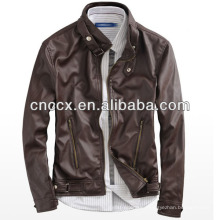 14PUJ8011 мужчины PU кожаная куртка