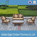 Durable Rattan Garden Outdoor Furniture med kuddar