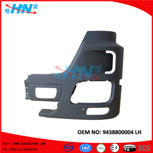 9438800004 Corner Bumper With Fog Lamp Hole Replacement Parts For Benz Actros Mp3 Mega